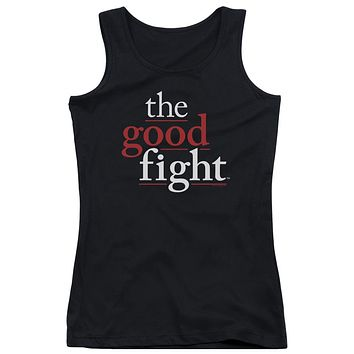 The Good Fight Juniors Tank Top Logo Black Tanktop