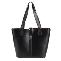 Fashion Women Ladies Synthetic Leather Hasp Closure 2pcs Casual Tote Handbag Shoulder Messenger Bag