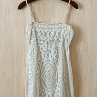 Ivory Lace Soiree Dress