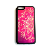 Mandala iphone6 case, Gold hot pink ombre iphone6plus, Bohemian iPhone 5 Case, iPhone 4 Case, iPhone 4s Case, Samsung Galaxy s4 s3, Cover