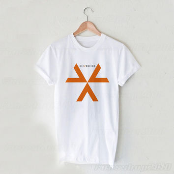 CHVRCHES Logo Black White Unisex T Shirt