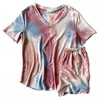 NEW! Pink and Blue Tie Dye Top