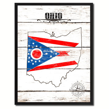 Ohio State Flag Gifts Home Decor Wall Art Canvas Print Picture Frames