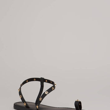 Reach For The Stars Studded Sandals
