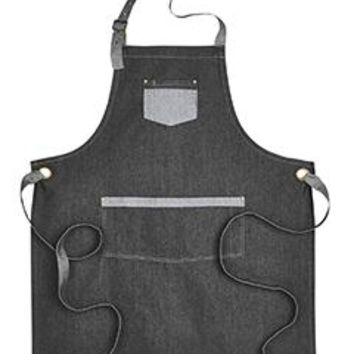 Artisan Collection by Reprime - Unisex Domain Contrast Denim Bib Apron
