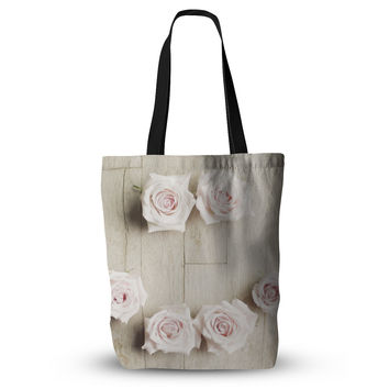"Cristina Mitchell ""Smile"" Wood Roses Everything Tote Bag"