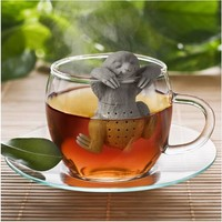 Lazy Sloth Tea Infuser Silicone Reusable Portable Tea Strainer Coffee Herb Filter Empty Tea Bags Loose Leaf Diffuser Accessories