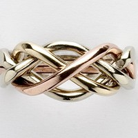 Ladies 4 Band Puzzle Ring Style 4L