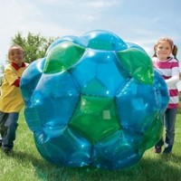 """GBOP (Great Big Outdoor Playball), Inflatable - Blue and Green - 52"""" diam."""