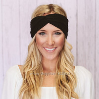 Hot Sales Twist Turban Headband Sport Yoga Stretch Headbands for Women Hair bands Bandana Head wrap Girls Hair Accessories A0406