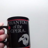 Vintage Phantom of the Opera Ceramic Coffee Mug 1988