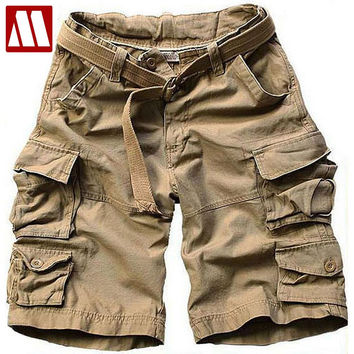 Summer Men New Style Board Shorts High Quality Mens Cargo Shorts Casual Shorts with belt