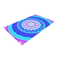"Iris Lehnhardt ""Summer Colors"" Pink Blue Woven Area Rug"