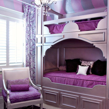 Bunk Beds Furniture For Girls Room by OverTheTopDecor on Etsy