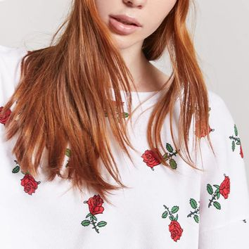 Rose Graphic Crop Top