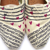 The Lovie - Black and Cream Custom TOMS