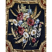 Tache 1 Piece 50 x 60 inch Floral Harvest Tapestry Throw (1358)