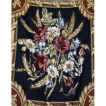 Tache 1 Piece 50 x 60 inch Floral Harvest Tapestry Throw (TA1358)