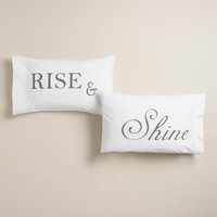 Rise and Shine Pillowcases Set of 2