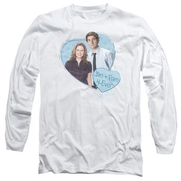 The Office - Jim & Pam 4 Ever Long Sleeve Adult 18/1