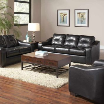 Serta 8300 San Marino Ebony Sofa and Loveseat