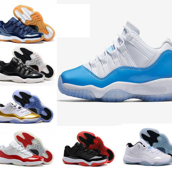 Air retro 11 XI University blue Metallic Gold Navy Gum bred Varsity Red concord 72-10 space jam men women basketball shoes sports Sneaker
