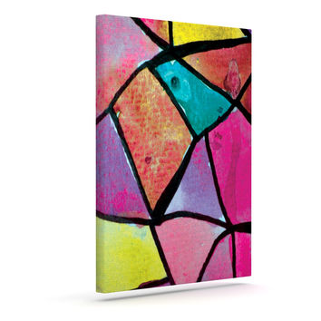 "Theresa Giolzetti ""Stain Glass 3"" Outdoor Canvas Wall Art"