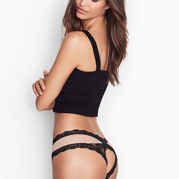 Lace & Mesh Cheeky Panty - Very Sexy - Victoria's Secret