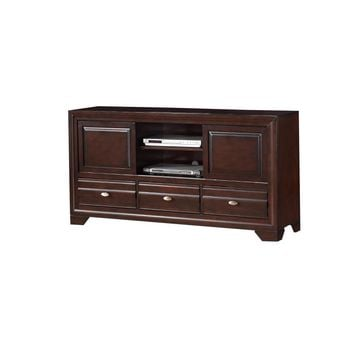 Amiable Entertainment TV Stand, Dark Brown By Crown Mark