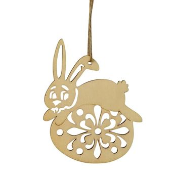 6Pc Wooden Easter Hanging Pendant Gift Wall Door Decor Sign Hanger for Home Shop
