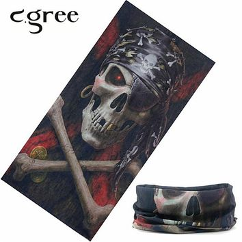 C.gree Camo Bandana Seamless Headband Face Mask Magic Scarf 25*48cm Camouflage Skull Motorcycle Bandanas Wears Luxury
