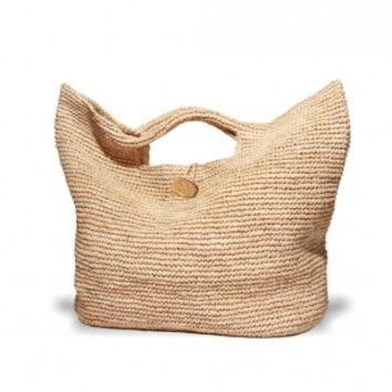 Physician Endorsed - Oversized Beach Bag -Tobago Tote Bag Natural/Natural | ShopMiamiStyle