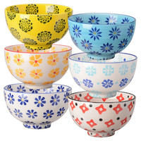 Asst. of 6 Stoneware Global Bowls, Bowls