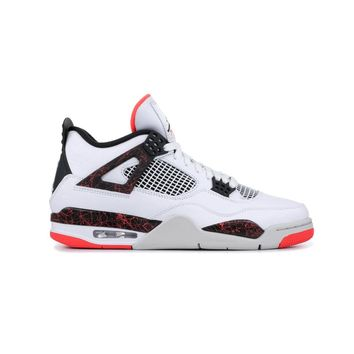 Air Jordan Men's Retro 4 IV Flight Nostalgia  - White/Bright Crimson
