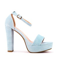 Ankle Strap Chunky Heel Pump