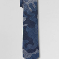 Boys' Camo Chambray Necktie from Lands' End