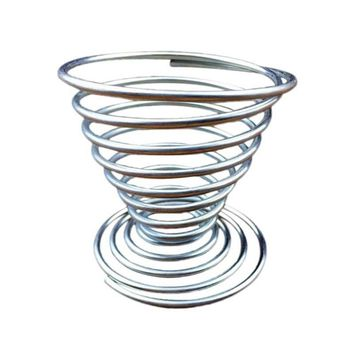 Stainless Steel Egg Cup Spring Wire Tray Eggs Holder Shelf Stand