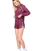 Lace-Up Varsity Short - PINK - Victoria's Secret