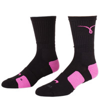 Accessories - Socks - Nike Elite BB Crew Socks - Kay Wow Black Pink - DTLR - Down Town Locker Room. Your Fashion, Your Lifestyle!