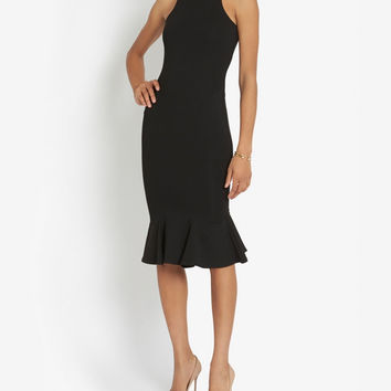 Nadia Tarr Trumpet Flare Hem Dress at INTERMIX | Shop Now | Shop IntermixOnline.com