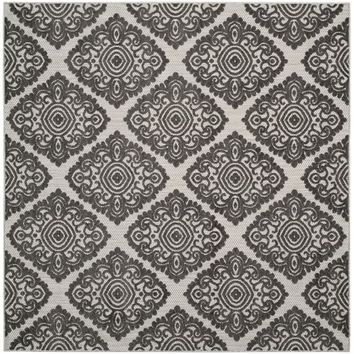 Diamond Arabesque All-Weather Rug - Cream/Gray