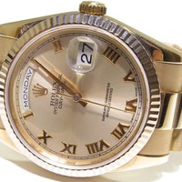 ROLEX PRESIDENT DAY DATE 118205 PINK ROMAN DIAL 18K ROSE GOLD GREAT CONDITION