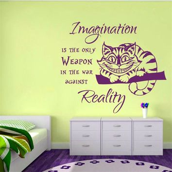 Wall Decal Cheshire Cat Alice in Wonderland Wall Sticker
