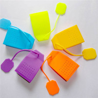 Bag Shape Silicone Tea Leaf Strainer Filter Infuser Teacup Teapots Diffuser For Tea Coffee Drinkware