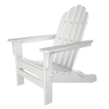 Folding White Wood color Adirondack Chair  Size 38H X 28 X 28