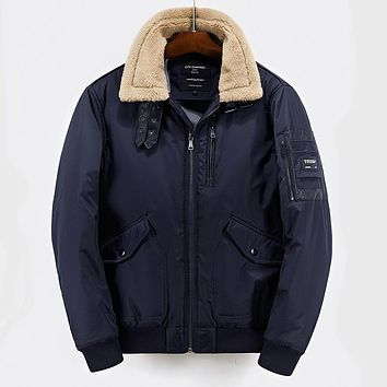 High Quality Men's Parkas Fashion Thick Winter Coats Men Cotton Padded Clothing for Male Brand Clothing Hommer Hooded Parkas 2XL