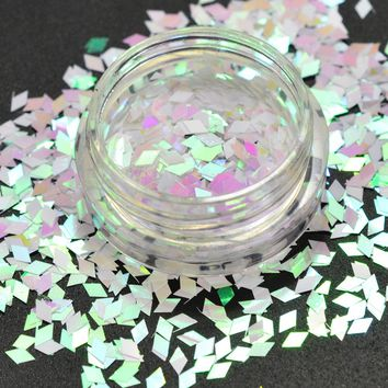 1 Box Glitter Rhombus Designs Nail Art Flakes Summer Sweet Pink DIY Decor Manicure for 3D Nail Sequin Dust Sticker Tips CHLQ03