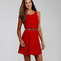 Teeze Me Zigzag Back Dress red | Dillards.com