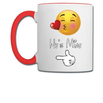 emoji he is mine - Coffee/Tea Mug