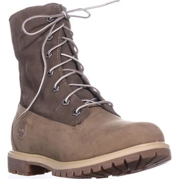 Timberland Teddy Fleece Lace-Up Boots, Light Brown, 6.5 US